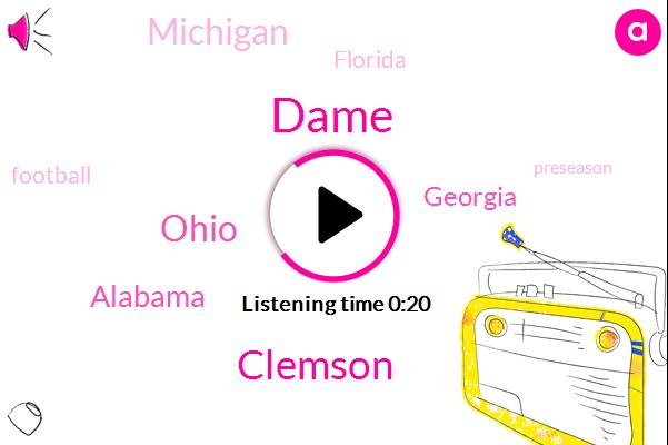 Clemson,Dame,Ohio,Football,Alabama,Georgia,Michigan,Florida
