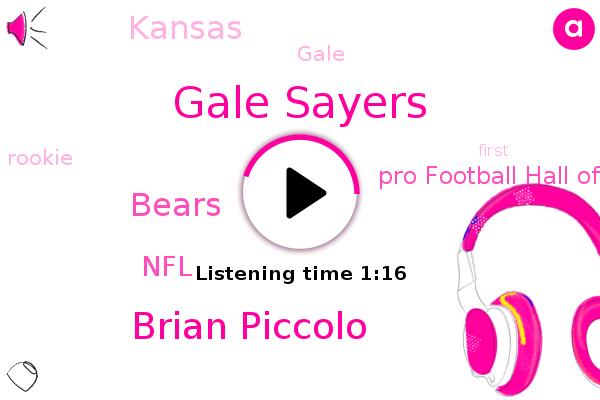 Gale Sayers,Brian Piccolo,Kansas,NFL,Pro Football Hall Of Fame,Bears