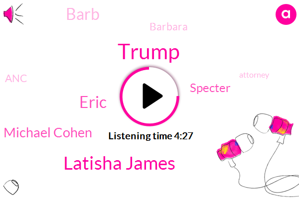 Donald Trump,President Trump,Latisha James,Executive Vice President,Eric,Attorney,ANC,New York,Chief Legal Officer,Brian,Us Attorney,Michael Cohen,Specter,Barb,Michigan,Barbara