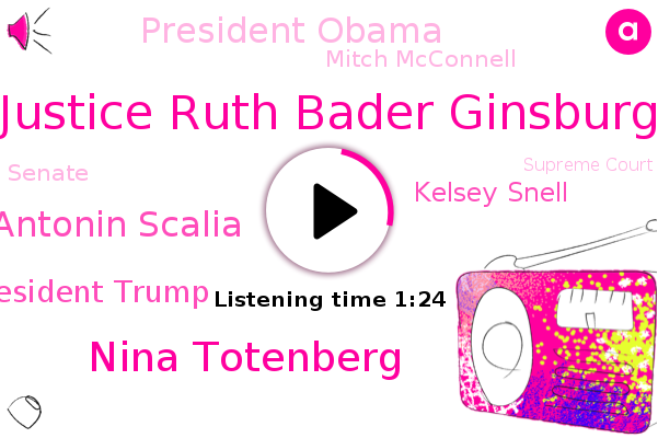 Justice Ruth Bader Ginsburg,Supreme Court,NPR,Nina Totenberg,Justice Antonin Scalia,Senate,President Trump,Kelsey Snell,North Carolina,President Obama,Virginia Military Institute,Mitch Mcconnell,Washington