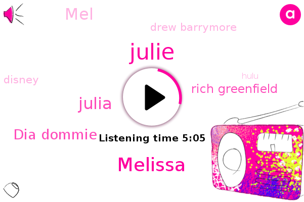 Disney,Melissa,Julia,Julie,Dia Dommie,Hulu,Rich Greenfield,Espn,Walt Disney,MEL,Drew Barrymore
