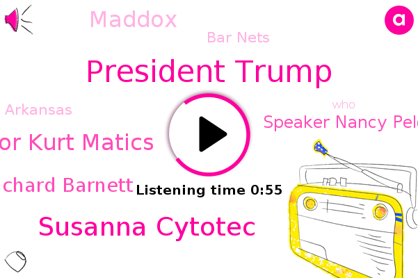President Trump,Susanna Cytotec,Mayor Kurt Matics,Richard Barnett,Speaker Nancy Pelosi,Bar Nets,Arkansas,Maddox
