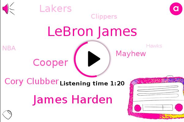 Lebron James,Lakers,Clippers,James Harden,NBA,Hawks,Mavericks,Bulls,Thunder,Celtics,Cooper,Nets,Brooklyn,Cory Clubber,Mayhew,Yankees,Baseball,Wisconsin,Rutgers,Hockey