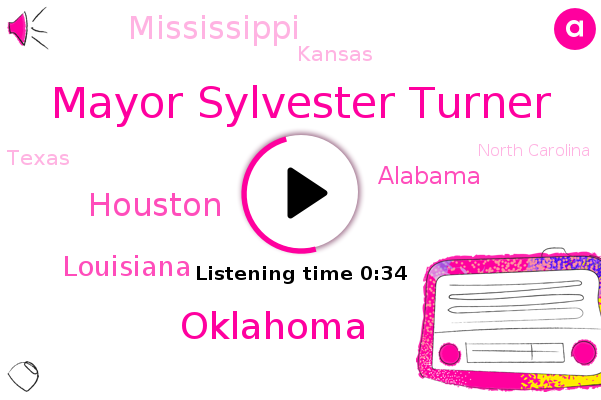 Mayor Sylvester Turner,Houston,Louisiana,Alabama,Mississippi,Kansas,Oklahoma,Texas,North Carolina