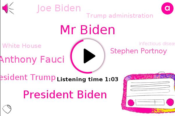 Mr Biden,Trump Administration,President Biden,Dr Anthony Fauci,President Trump,Stephen Portnoy,Joe Biden,Infectious Disease,White House,Cbs News