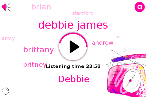 Debbie James,Debbie,Stanford,Brittany,Britney,Army,LA,Britain,Andrew,Brian,HIV