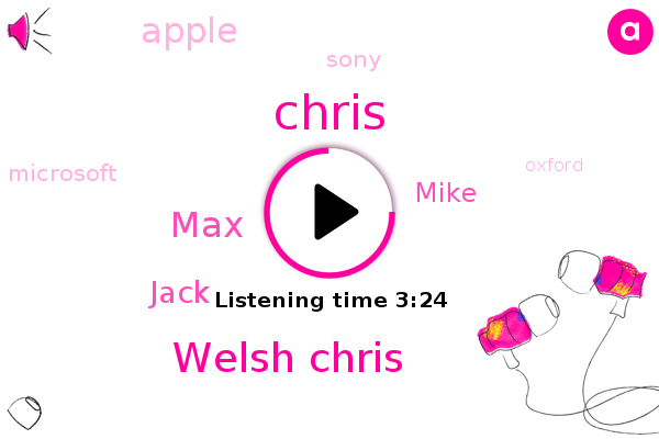Welsh Chris,Apple,MAX,Jack,Chris,Oxford,Mike,Sony,Microsoft