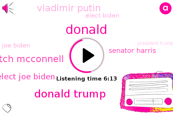 Donald Trump,Mitch Mcconnell,Senate,President Elect Joe Biden,Senator Harris,Vladimir Putin,Elect Biden,Joe Biden,Biden Administration,President Trump,Republican Party,Mcconnell,Melbourne,Michelle Goldberg,Sally Kohn,Jon Meacham,California