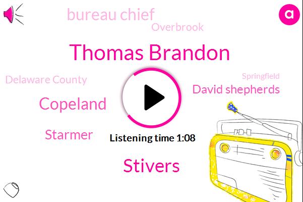 Bureau Chief,Robbery,Murder,Thomas Brandon,Overbrook,Stivers,Copeland,Starmer,Delaware County,Shoplifting,David Shepherds,Springfield