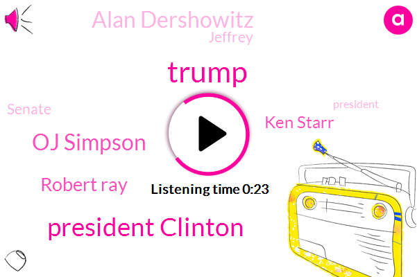 Donald Trump,President Clinton,Oj Simpson,Robert Ray,President Trump,Senate,Ken Starr,Attorney,Alan Dershowitz,Jeffrey