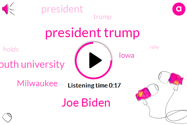 President Trump,Milwaukee,Iowa,Joe Biden,Monmouth University