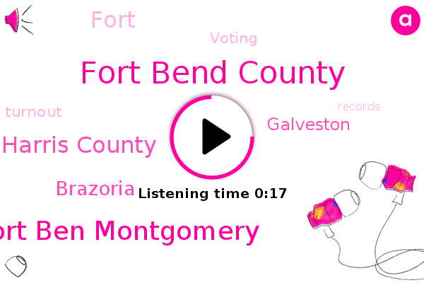 Fort Bend County,Fort Ben Montgomery,Harris County,Brazoria,Galveston