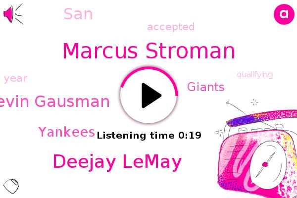 Marcus Stroman,Deejay Lemay,Yankees,Kevin Gausman,Giants,SAN