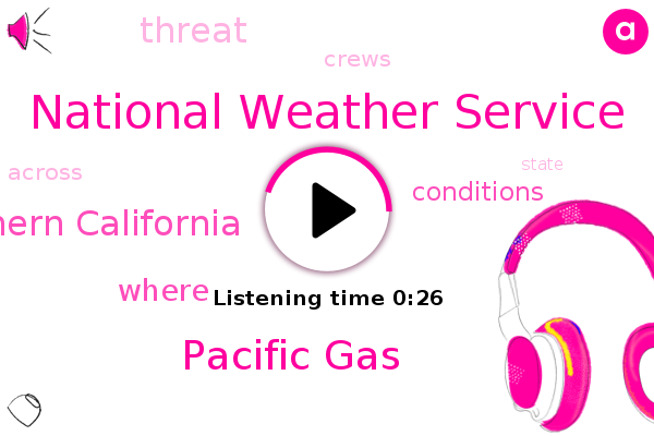 National Weather Service,Northern California,Pacific Gas