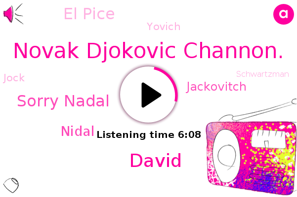 Tennis,Novak Djokovic Channon.,David,Sorry Nadal,Nidal,Jackovitch,El Pice,Yovich,Dell,Berlin,Jock,Schwartzman,Dallas,Federer