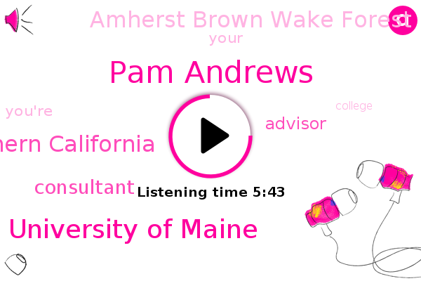 Pam Andrews,Amherst Brown Wake Forest,Consultant,University Of Maine,Usc University Of Southern California,Advisor