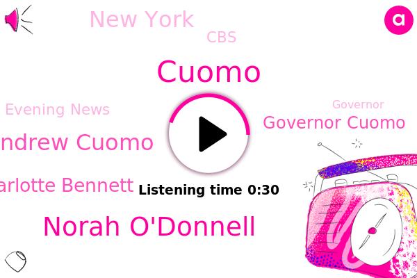 Norah O'donnell,Governor Andrew Cuomo,Charlotte Bennett,Evening News,CBS,Governor Cuomo,New York,Cuomo