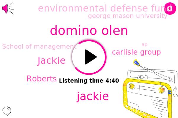 Domino Olen,Carlisle Group,Environmental Defense Fund,Jackie,Appalachia,George Mason University,School Of Management,Roberts,AP,Virginia