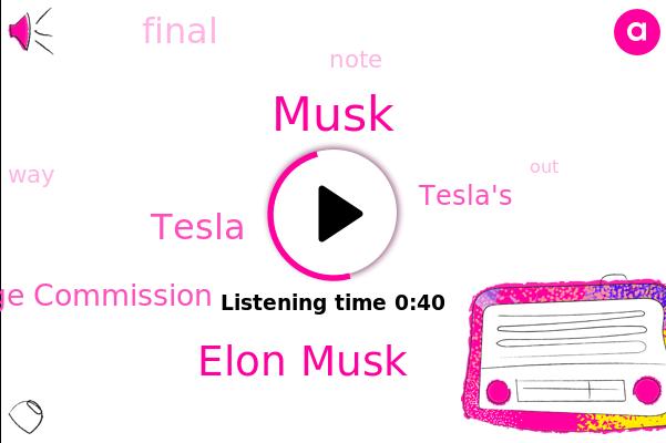 Tesla,Elon Musk,Securities And Exchange Commission,Musk