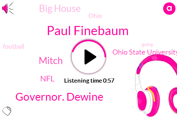 Football,NFL,Paul Finebaum,Ohio State University,Governor. Dewine,Ohio,Mitch,Big House