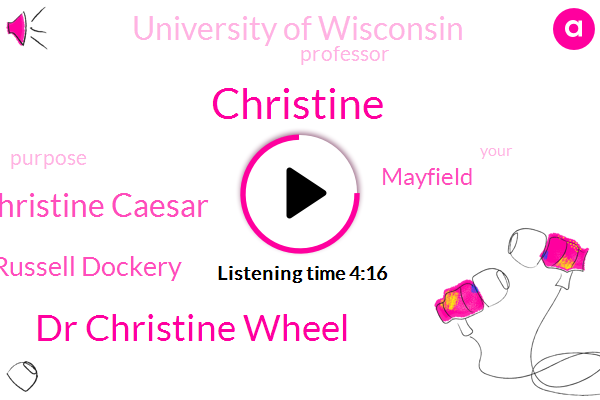 Dr Christine Wheel,Christine Caesar,Dr Russell Dockery,Christine,University Of Wisconsin,Professor,Mayfield