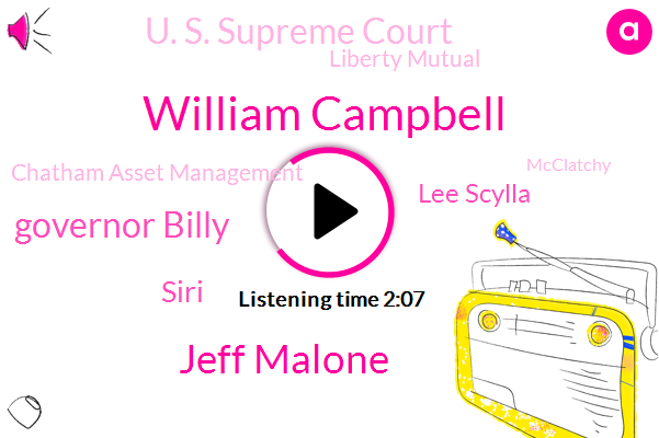 Tennessee,Chatham,U. S. Supreme Court,Liberty Mutual,William Campbell,Jeff Malone,Chatham Asset Management,Governor Billy,Fox News,Fund Manager,Siri,Lee Scylla,Mcclatchy,Treasure Department,Disney,Miami Herald,National Enquirer