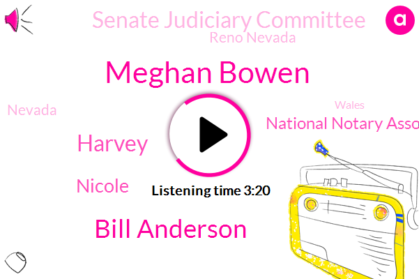 Meghan Bowen,National Notary Association,Reno Nevada,Bill Anderson,Harvey,Nevada,Fever,Senate Judiciary Committee,Nicole,Wales,Vice President,Executive,Attorney