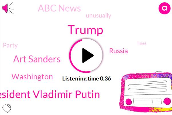 President Vladimir Putin,Abc News,Washington,ABC,Art Sanders,Donald Trump,Russia