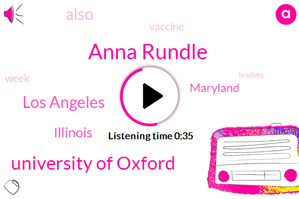 Los Angeles,Illinois,Anna Rundle,Maryland,University Of Oxford