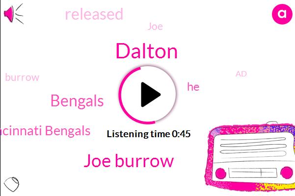 Dalton,Cincinnati Bengals,Joe Burrow,Bengals