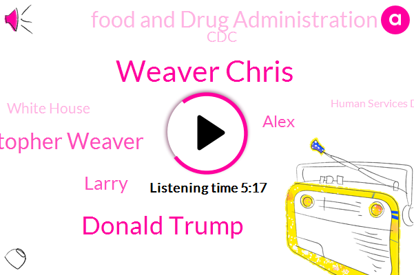 Food And Drug Administration,CDC,Wall Street Journal,South Korea,United States,Reporter,Weaver Chris,Donald Trump,President Trump,Christopher Weaver,Larry,White House,Secretary,Alex,Human Services Department