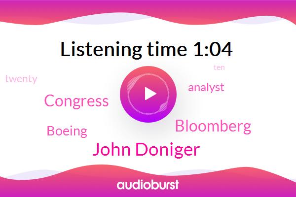 Congress,Analyst,John Doniger,Bloomberg,Boeing