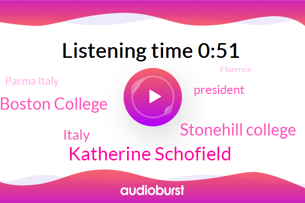 Italy,President Trump,Katherine Schofield,Parma Italy,Stonehill College,Florence,Rome,Francesco Cesareo Boston College