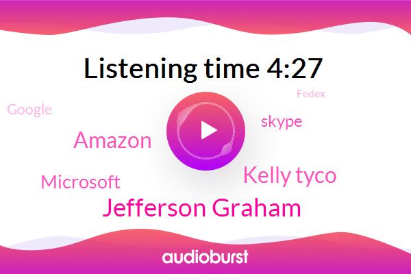 Wanna,Amazon,Jefferson Graham,Microsoft,Kelly Tyco,Skype,Google,Fedex,Facebook,Belkin,Apple,WI