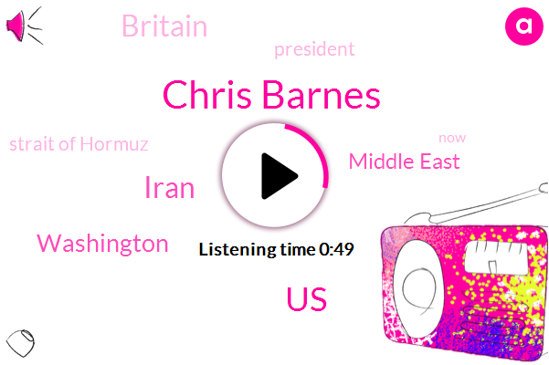 Middle East,Chris Barnes,Britain,United States,Iran,Washington,Strait Of Hormuz,President Trump