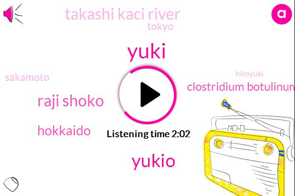 Yuki,Yukio,Raji Shoko,Hokkaido,Clostridium Botulinum,Takashi Kaci River,Tokyo,Sakamoto,Hiroyuki,Rico,Australia