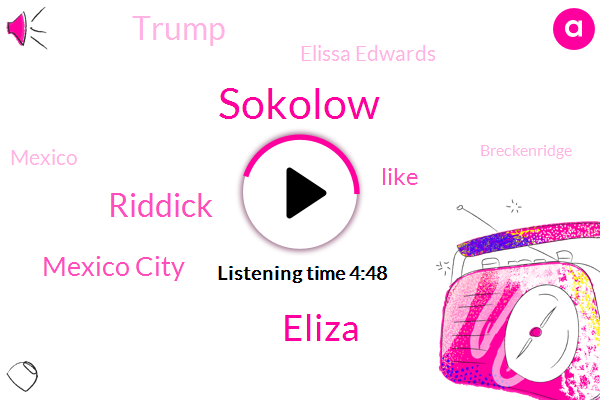 Sokolow,Eliza,Riddick,Mexico City,Donald Trump,Elissa Edwards,Mexico,Breckenridge,New York,Chancellor,Three Days