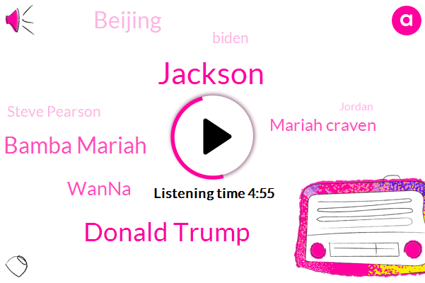 Jackson,Donald Trump,Bamba Mariah,Wanna,Mariah Craven,Beijing,Biden,Steve Pearson,Jordan,DOW,A. Hologram