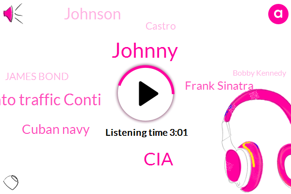 Johnny,CIA,Santo Traffic Conti,Cuban Navy,Frank Sinatra,Johnson,Castro,James Bond,Bobby Kennedy,Miami,LEE,Florida,Florida Keys,Cuba,Leslie James Bond,White House,Bill Harvey,Washington,William Conrad,Russia