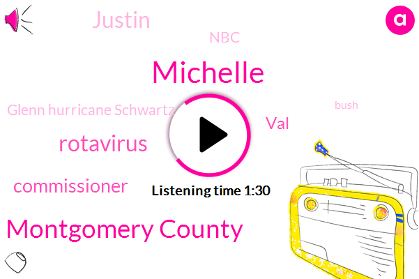 Michelle,Montgomery County,Rotavirus,Commissioner,VAL,Justin,NBC,Glenn Hurricane Schwartz,Bush,Bureau Chief,JIM