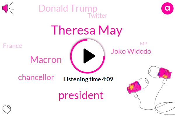 Theresa May,President Trump,Macron,Chancellor,Joko Widodo,Donald Trump,Twitter,France,MP,Peterman,Far-Right Freedom Party,Customs Union,Jakarta,Sebastian Kurz,Dr Martin,Prime Minister,Amazon,Terry,London