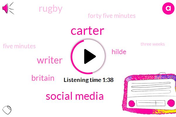 Carter,Social Media,Writer,Britain,Hilde,Rugby,Forty Five Minutes,Five Minutes,Three Weeks