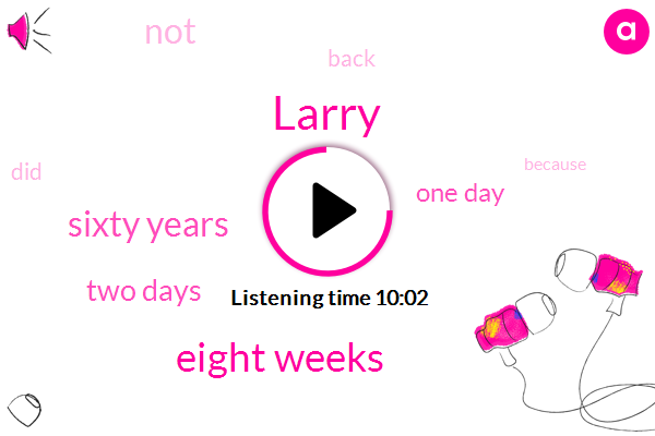 Larry,Eight Weeks,Sixty Years,Two Days,One Day