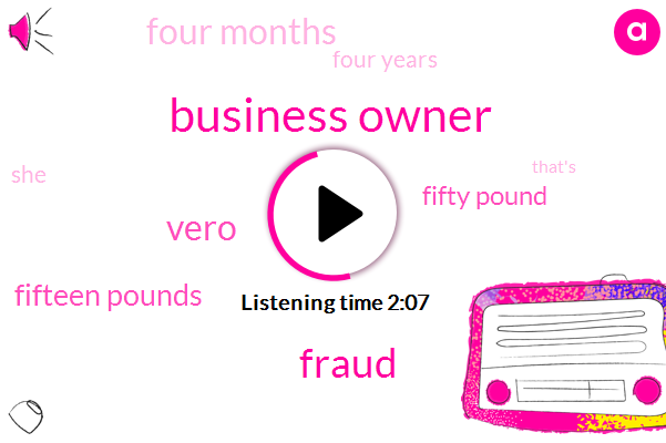 Business Owner,Fraud,Vero,Fifteen Pounds,Fifty Pound,Four Months,Four Years