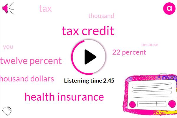 Tax Credit,Health Insurance,Ten Twelve Percent,Thousand Dollars,22 Percent
