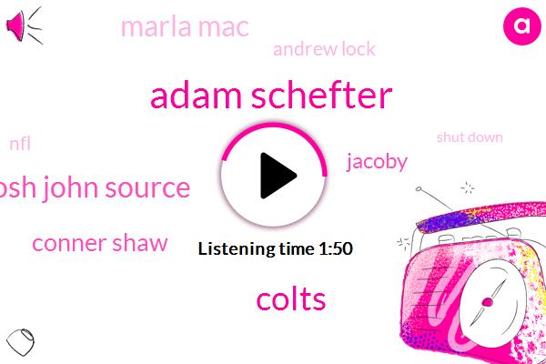Adam Schefter,Colts,Josh John Source,Conner Shaw,Jacoby,Marla Mac,Andrew Lock,NFL,Shut Down,Colin Kaepernick,Jim Irsay,Chris Ballard,Fourmonth