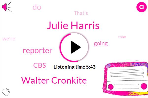 Julie Harris,Walter Cronkite,Reporter,CBS
