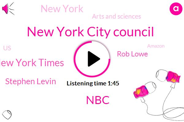 New York City Council,NBC,New York Times,Stephen Levin,Rob Lowe,New York,Arts And Sciences,United States,Amazon,Joseph Opoku,Manhattan,Guzman,Tober,Three Hours,Two Weeks,One Year