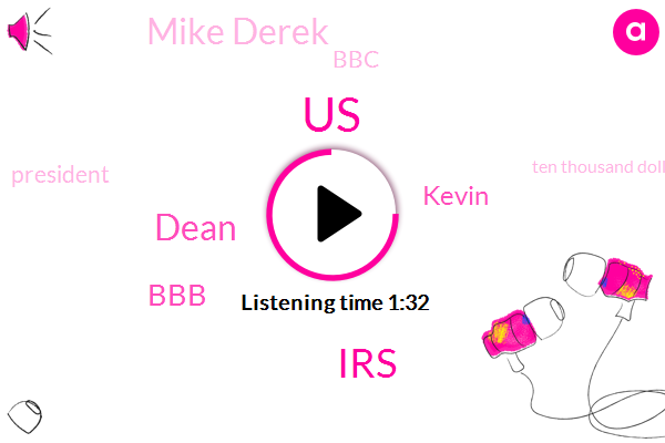 United States,IRS,Dean,BBB,Kevin,Mike Derek,BBC,President Trump,Ten Thousand Dollars,Thousand Dollars