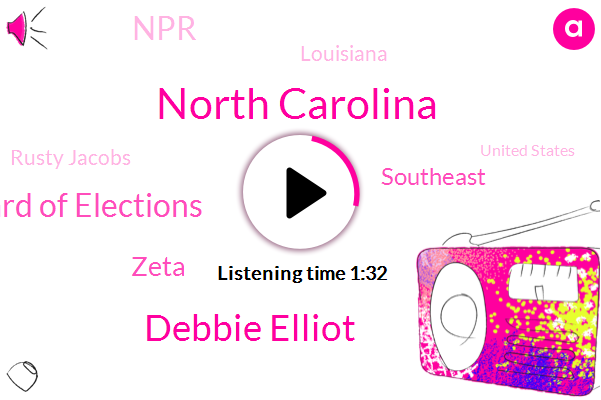 North Carolina,Debbie Elliot,North Carolina Board Of Elections,Southeast,Zeta,NPR,Louisiana,Rusty Jacobs,United States,Hurricane,Us Supreme Court,Europe,Mississippi Gulf Coast,Atlantic,ADA,Cocodrie